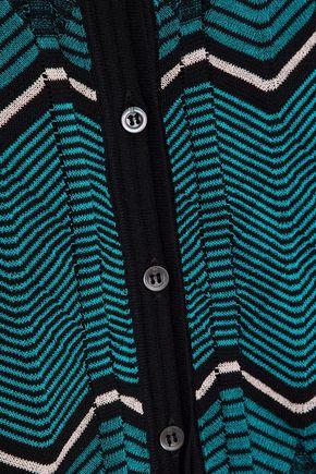 M MISSONI Crochet-knit cotton-blend cardigan