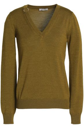 NINA RICCI Embellished wool and silk-blend sweater