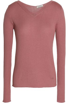 NINA RICCI Ribbed cashmere and silk-blend sweater