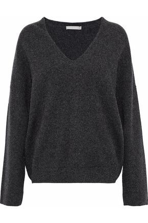 WOMAN CASHMERE SWEATER CHARCOAL