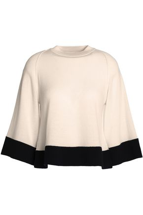 VICTORIA, VICTORIA BECKHAM Wool and cashmere-blend top