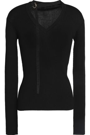 NINA RICCI Wool and silk-blend top