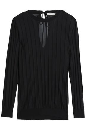NINA RICCI Tie-back ribbed knitted sweater