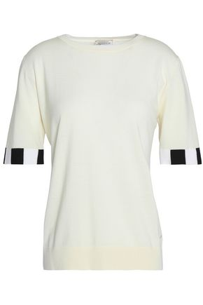 NINA RICCI Wool and silk-blend top