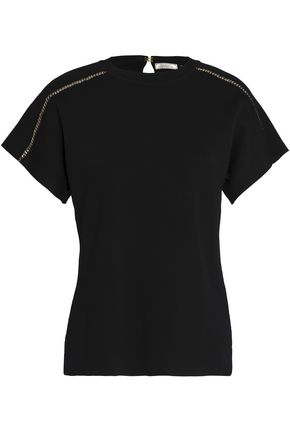NINA RICCI Chain-embellished jersey top