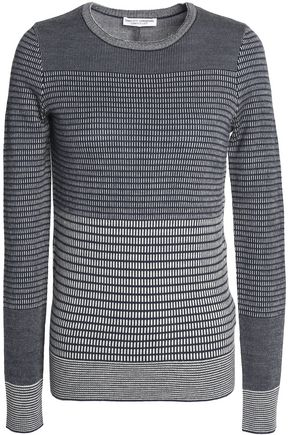 CURRENT/ELLIOT + CHARLOTTE GAINSBOURG Paneled merino wool and cashmere-blend sweater