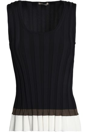 NINA RICCI Color-block pleated ponte top