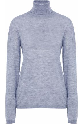 JIL SANDER Mélange cashmere and silk-blend turtleneck top