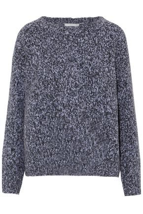 VINCE. Marled wool, cashmere and silk-blend sweater