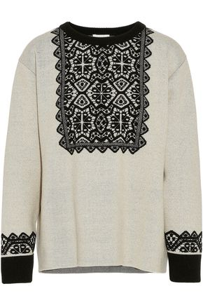 CHLOÉ Intarsia wool sweater