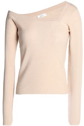 A.L.C. Asymmetric merino wool-blend top
