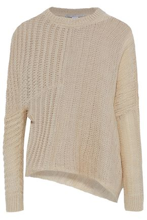STELLA McCARTNEY Asymmetric ribbed linen sweater