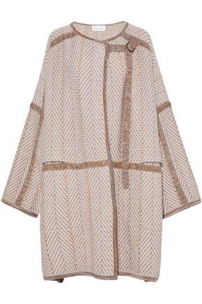 CHLOÉ Marled wool and cashmere-blend cardigan