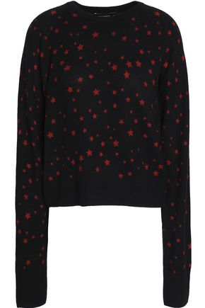 KATE MOSS EQUIPMENT Printed knitted cashmere sweater