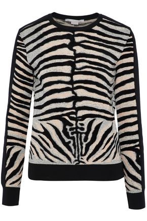 STELLA McCARTNEY Zebra-print jacquard-knit sweater