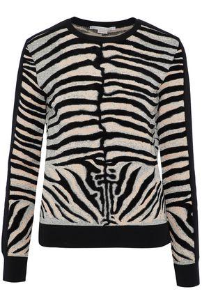 STELLA McCARTNEY Zebra-print jacquard-knit sweater