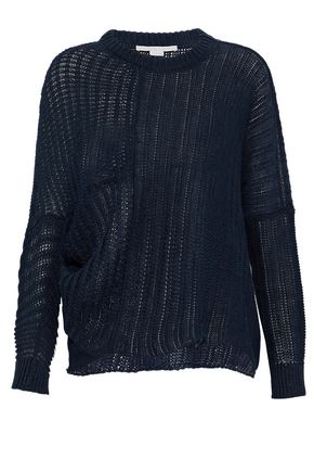 STELLA McCARTNEY Open-knit linen sweater