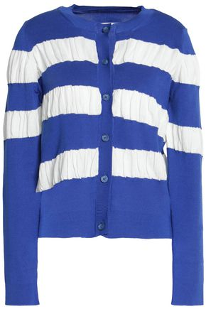 MM6 MAISON MARGIELA Striped ribbed-knit cotton cardigan