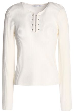 DEREK LAM 10 CROSBY Ribbed-knit wool sweater