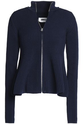 MM6 MAISON MARGIELA Ribbed-knit cardigan