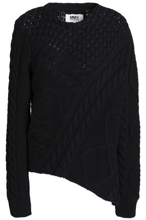 MM6 MAISON MARGIELA Asymmetric open-knit cotton sweater