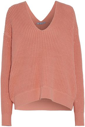 T by ALEXANDER WANG Ribbed cotton sweater