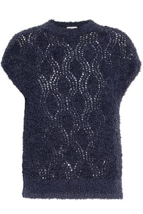 BRUNELLO CUCINELLI Open-knit bouclé sweater