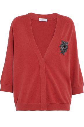 BRUNELLO CUCINELLI Appliquéd cashmere cardigan
