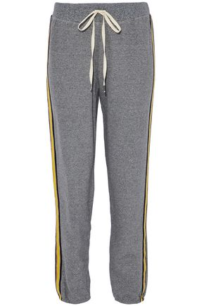 SPLENDID Cotton-blend terry track pants