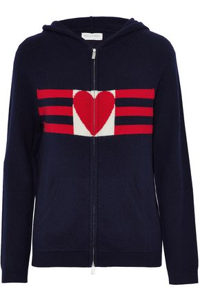 CHINTI AND PARKER Intarsia cashmere hooded sweater