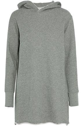 RTA Mélange cotton-blend terry hooded mini dress