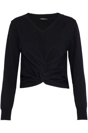 RAOUL Twist-front cotton-blend sweater