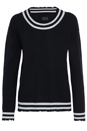 RTA Distressed striped cashmere sweater