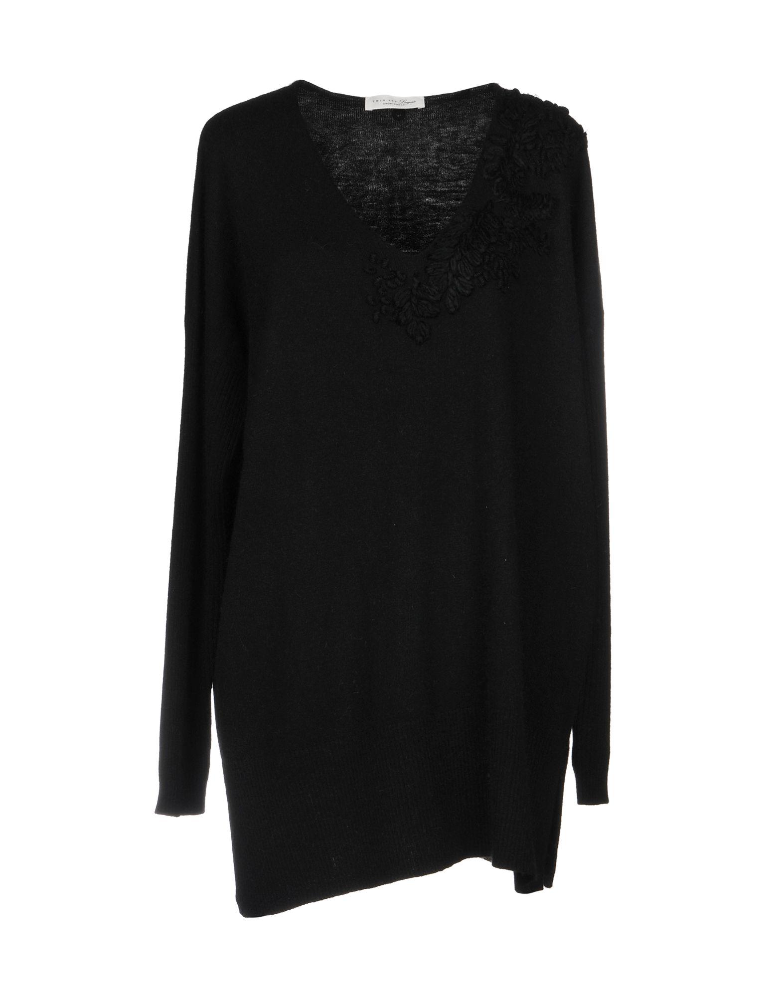 TWIN-SET LINGERIE Свитер black lace details v neck with no falsies lingerie set