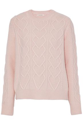 CHINTI AND PARKER Cable-knit wool and cashmere-blend sweater