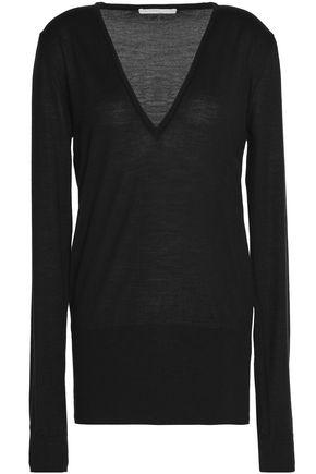 ANTONIO BERARDI Merino wool and silk-blend knitted top