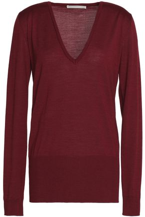 ANTONIO BERARDI Merino wool and silk-blend knitted top