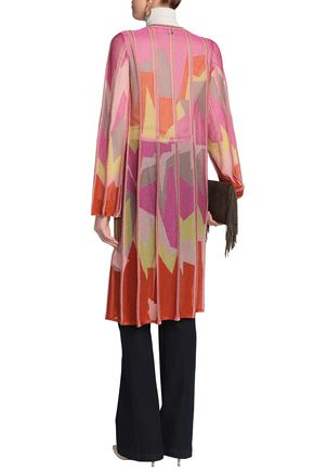 M MISSONI Paneled printed knitted cardigan
