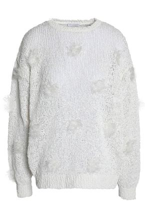 BRUNELLO CUCINELLI Embellished open-knit sweater