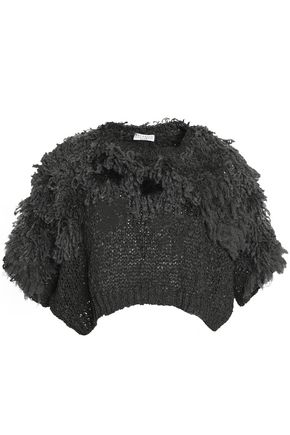 BRUNELLO CUCINELLI Fringed knitted top