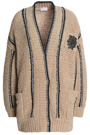 BRUNELLO CUCINELLI Embellished wool-blend cardigan