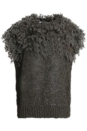 BRUNELLO CUCINELLI Fringed open-knit top