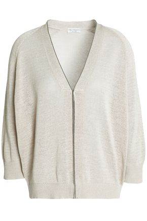 BRUNELLO CUCINELLI Crystal-trimmed cotton cardigan