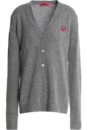 McQ Alexander McQueen Patch-appliquéd wool and cashmere-blend cardigan