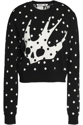McQ Alexander McQueen Two-tone printed knitted top