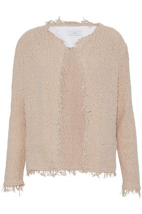 IRO Frayed cotton-blend bouclé jacket