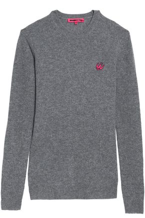 McQ Alexander McQueen Patch-appliquéd wool and cashmere-blend sweater