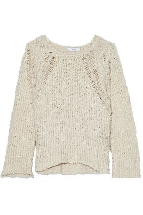 IRO Ribbed open-knit cotton-bouclé sweater