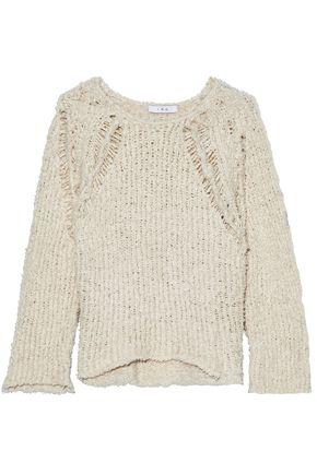 IRO Ribbed open-knit cotton-bouclé sweater
