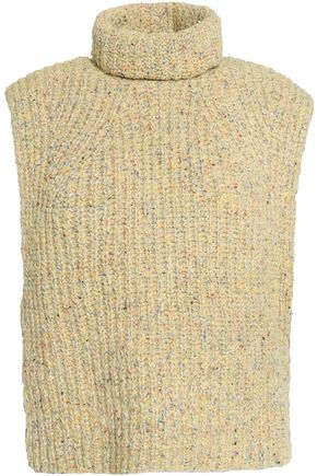 ISABEL MARANT ÉTOILE Marled ribbed-knit turtleneck sweater